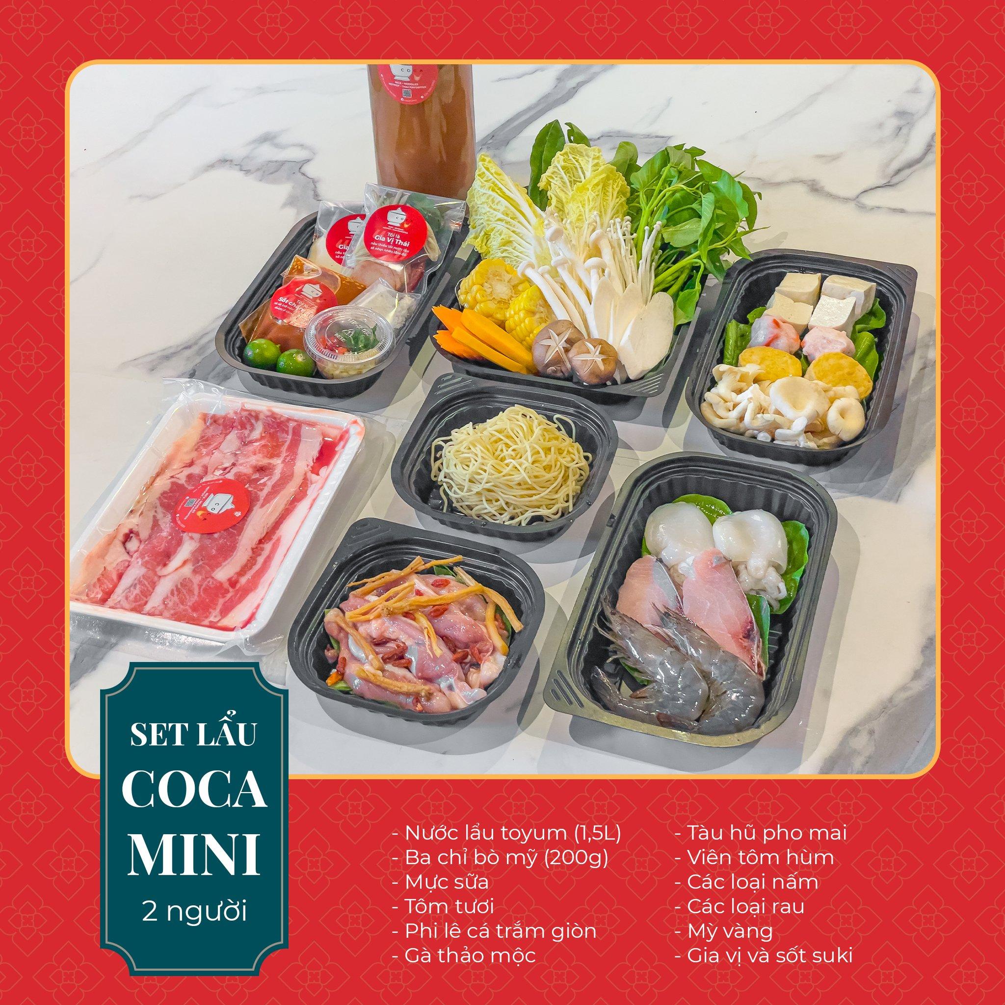 Set lẩu COCA mini (dành cho 2 người)